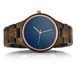 Cari Damen und Herren Holz Armbanduhr Oslo - Sandelholz mit Schweizer Uhrwerk und Saphirglas - 1