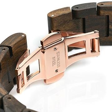 Cari Damen und Herren Holz Armbanduhr Oslo - Sandelholz mit Schweizer Uhrwerk und Saphirglas - 4