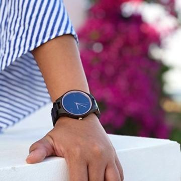 Cari Damen und Herren Holz Armbanduhr Oslo - Sandelholz mit Schweizer Uhrwerk und Saphirglas - 5