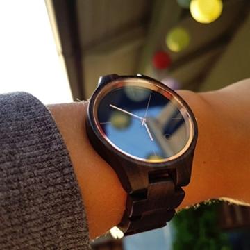 Cari Damen und Herren Holz Armbanduhr Oslo - Sandelholz mit Schweizer Uhrwerk und Saphirglas - 7