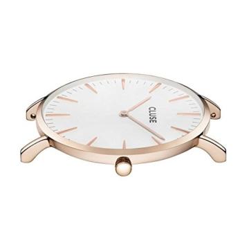 Cluse Damen-Armbanduhr Analog Quarz Leder CL18014 - 3
