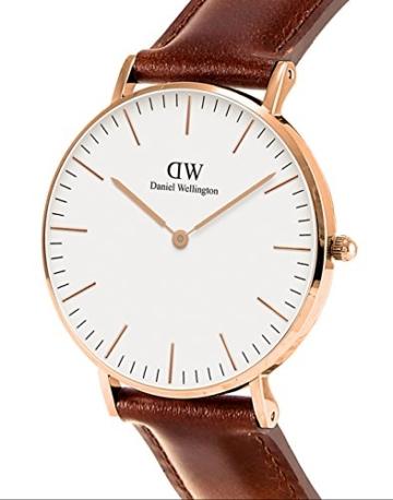 Daniel Wellington Damen-Armbanduhr Classic St.Mawes Analog Quarz Leder Rosegold/braun DW00100035 - 2