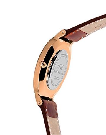 Daniel Wellington Damen-Armbanduhr Classic St.Mawes Analog Quarz Leder Rosegold/braun DW00100035 - 3