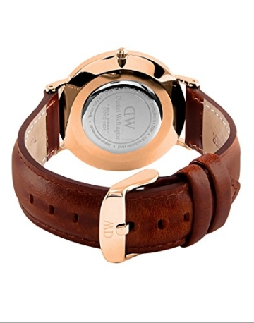 Daniel Wellington Damen-Armbanduhr Classic St.Mawes Analog Quarz Leder Rosegold/braun DW00100035 - 4