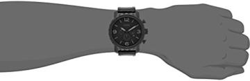 Fossil Herren Armbanduhr Nate - mit Lederarmband / Analoguhr mit Chronographen-Funktion & Datumsanzeige - 10 bar Wasserdichtigkeit - 5