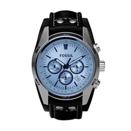 Fossil Herren Armbanduhr wasserdicht Coachman  / Lederband Uhr mit Chronographen-Funktion, Datumsanzeige & Tachymeter - 1