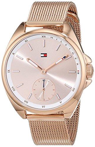 Tommy Hilfiger Damen Analog Quarz Uhr mit Edelstahl beschichtet Armband 1781756 - 1