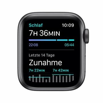AppleWatch SE (GPS, 40mm) Aluminiumgehäuse Space Grau, Sportarmband Schwarz - 5