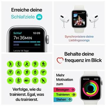 AppleWatch SE (GPS, 40mm) Aluminiumgehäuse Space Grau, Sportarmband Schwarz - 7