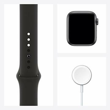 AppleWatch SE (GPS, 40mm) Aluminiumgehäuse Space Grau, Sportarmband Schwarz - 8