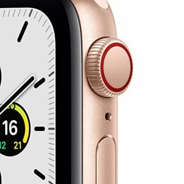 AppleWatch SE (GPS+ Cellular, 40mm) Aluminiumgehäuse Gold, Sportarmband Sandrosa - 2