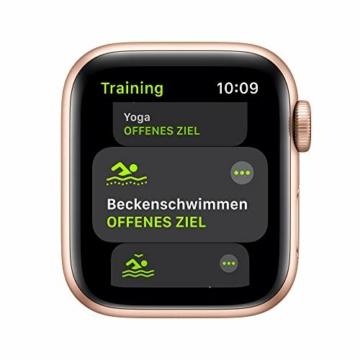 AppleWatch SE (GPS+ Cellular, 40mm) Aluminiumgehäuse Gold, Sportarmband Sandrosa - 3