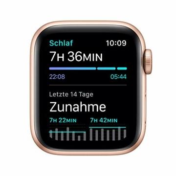 AppleWatch SE (GPS+ Cellular, 40mm) Aluminiumgehäuse Gold, Sportarmband Sandrosa - 5