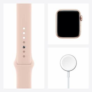 AppleWatch SE (GPS+ Cellular, 40mm) Aluminiumgehäuse Gold, Sportarmband Sandrosa - 8