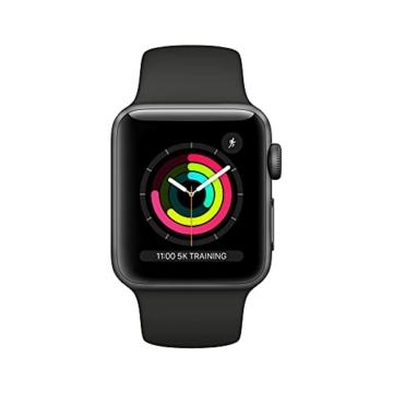 Apple Watch Series 3 (GPS, 38mm) Aluminiumgehäuse Space Grau - Sportarmband Schwarz - 2