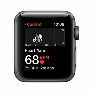 Apple Watch Series 3 (GPS, 38mm) Aluminiumgehäuse Space Grau - Sportarmband Schwarz - 3