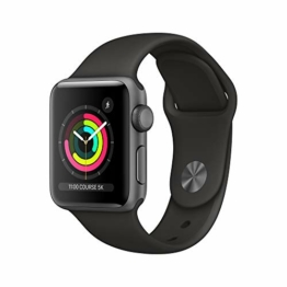 Apple Watch Series 3 (GPS, 38mm) Aluminiumgehäuse Space Grau - Sportarmband Schwarz - 1