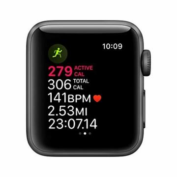 Apple Watch Series 3 (GPS, 38mm) Aluminiumgehäuse Space Grau - Sportarmband Schwarz - 5