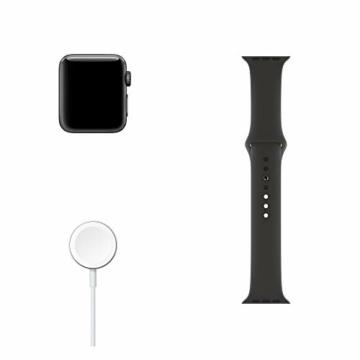 Apple Watch Series 3 (GPS, 38mm) Aluminiumgehäuse Space Grau - Sportarmband Schwarz - 6