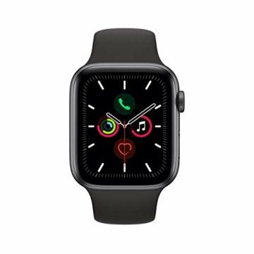 Apple Watch Series 5 44mm (GPS) - Aluminiumgehäuse Space Grau Schwarz Sportarmband (Generalüberholt) - 2