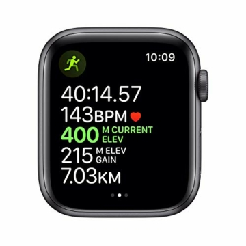 Apple Watch Series 5 44mm (GPS) - Aluminiumgehäuse Space Grau Schwarz Sportarmband (Generalüberholt) - 4