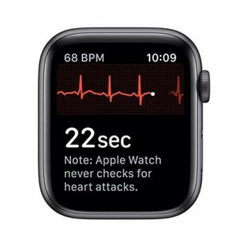 Apple Watch Series 5 44mm (GPS) - Aluminiumgehäuse Space Grau Schwarz Sportarmband (Generalüberholt) - 5