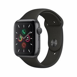 Apple Watch Series 5 (GPS, 44 mm) Aluminiumgehäuse Space Grau - Sportarmband Schwarz - 1