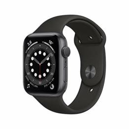AppleWatch Series6 (GPS, 44mm) Aluminiumgehäuse Space Grau, Sportarmband Schwarz - 1