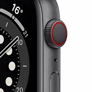 AppleWatch Series6 (GPS+ Cellular, 44mm) Aluminiumgehäuse Space Grau, Sportarmband Schwarz - 2