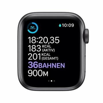 AppleWatch Series6 (GPS+ Cellular, 44mm) Aluminiumgehäuse Space Grau, Sportarmband Schwarz - 4