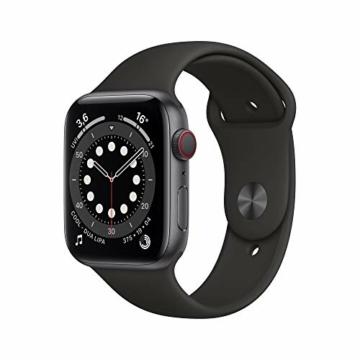AppleWatch Series6 (GPS+ Cellular, 44mm) Aluminiumgehäuse Space Grau, Sportarmband Schwarz - 1