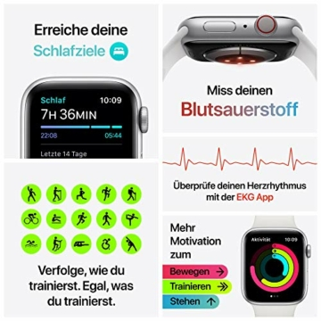 AppleWatch Series6 (GPS+ Cellular, 44mm) Aluminiumgehäuse Space Grau, Sportarmband Schwarz - 6