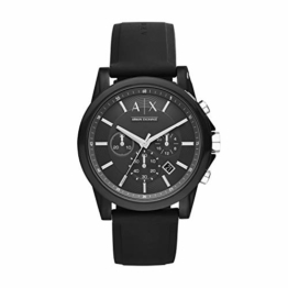 Armani Exchange Herren Chronograph Quarz Uhr mit Silikon Armband AX1326 - 1