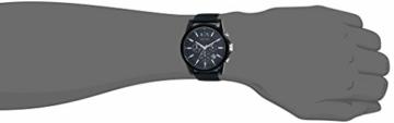 Armani Exchange Herren Chronograph Quarz Uhr mit Silikon Armband AX1326 - 4