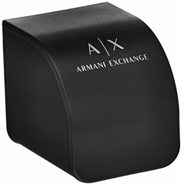 Armani Exchange Herren Chronograph Quarz Uhr mit Silikon Armband AX1326 - 5