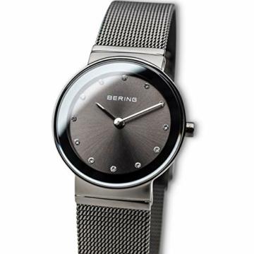 Bering Damen Analog Quarz Armbanduhr mit Edelstahl Armband 10126-077 - 2