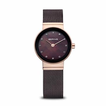 Bering Damen Analog Quarz Uhr mit Edelstahl Armband 10122-265 - 1