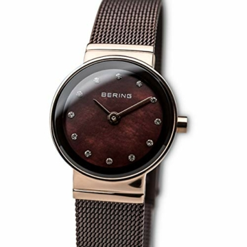 Bering Damen Analog Quarz Uhr mit Edelstahl Armband 10122-265 - 2