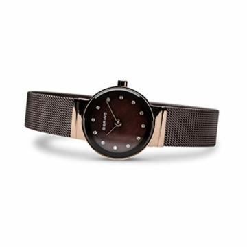 Bering Damen Analog Quarz Uhr mit Edelstahl Armband 10122-265 - 4