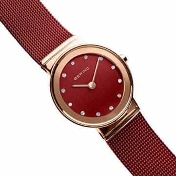 Bering Damen Analog Quarz Uhr mit Edelstahl Armband 10126-363 - 10
