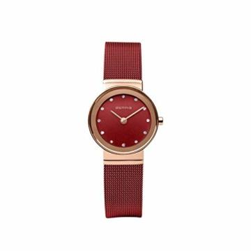 Bering Damen Analog Quarz Uhr mit Edelstahl Armband 10126-363 - 4