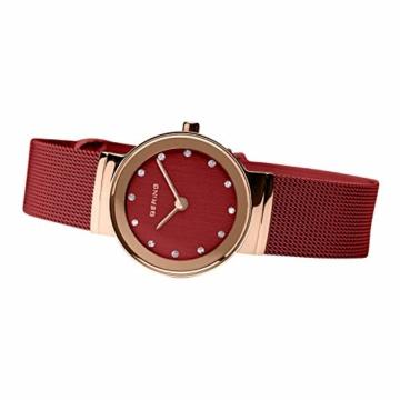 Bering Damen Analog Quarz Uhr mit Edelstahl Armband 10126-363 - 5