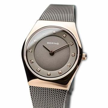 Bering Damen Analog Quarz Uhr mit Edelstahl Armband 11927-369 - 2