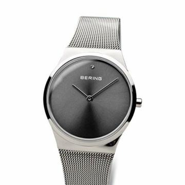 BERING Damen Analog Quarz Uhr mit Edelstahl Armband 12130-009 - 2