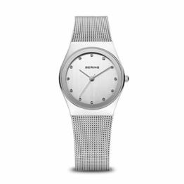 Bering Damen Analog Quarz Uhr mit Edelstahl Armband 12927-000 - 1