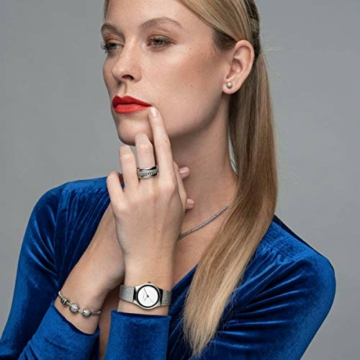 Bering Damen Analog Quarz Uhr mit Edelstahl Armband 12927-000 - 5