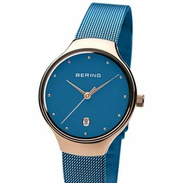 BERING Damen Analog Quarz Uhr mit Edelstahl Armband 13326-368 - 2