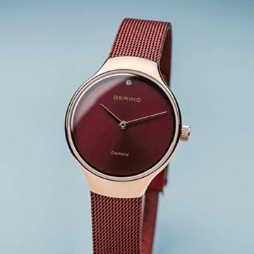 BERING Damen Analog Quarz Uhr mit Edelstahl Armband 13326-Charity - 2