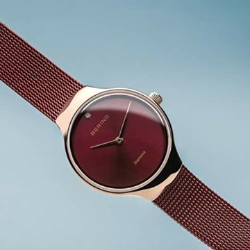 BERING Damen Analog Quarz Uhr mit Edelstahl Armband 13326-Charity - 3