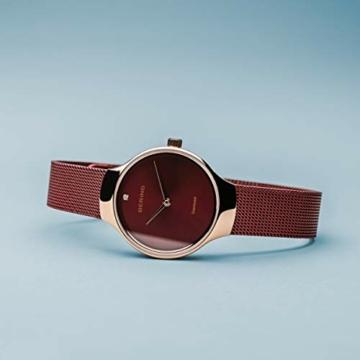 BERING Damen Analog Quarz Uhr mit Edelstahl Armband 13326-Charity - 4